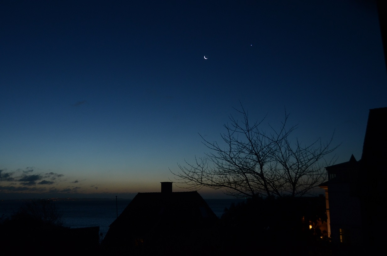 Venus på aftenhimlen