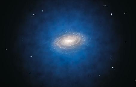 Mælkevejens halo af mørkt stof
