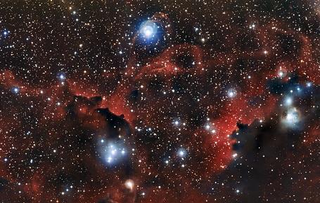 Den interstellare gassky/tåge Sharpless2-296