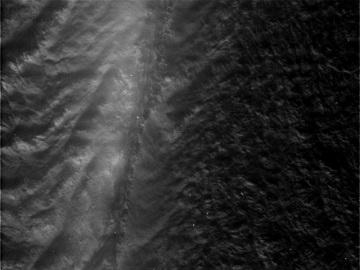 Højderyg på Saturnmånen Enceladus