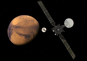 Schiaparelli  er landet på Mars