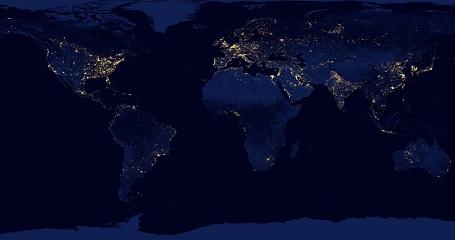 Earth by nigth mosaik