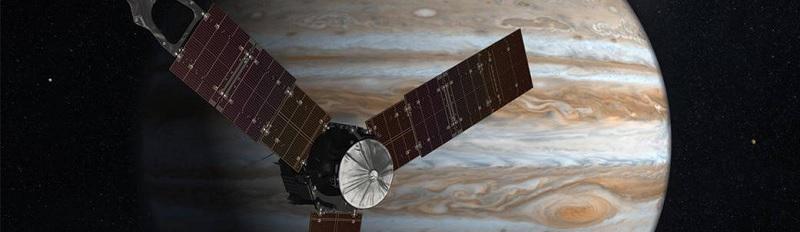Juno sonden i tæt kredsløb om Jupiter