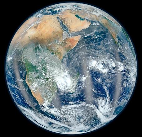 Jorden set fra rummet