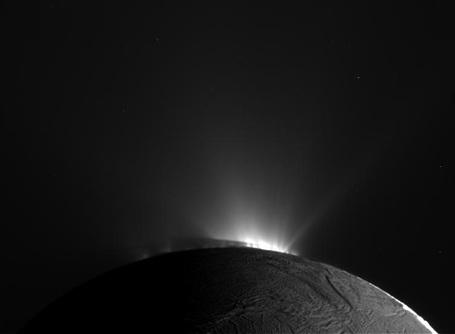 Saturnmånen Enceladus's geysere